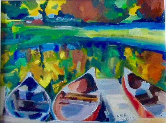 Memory of Summer. Landscape. Oil on wood. Original by ArtsAnita