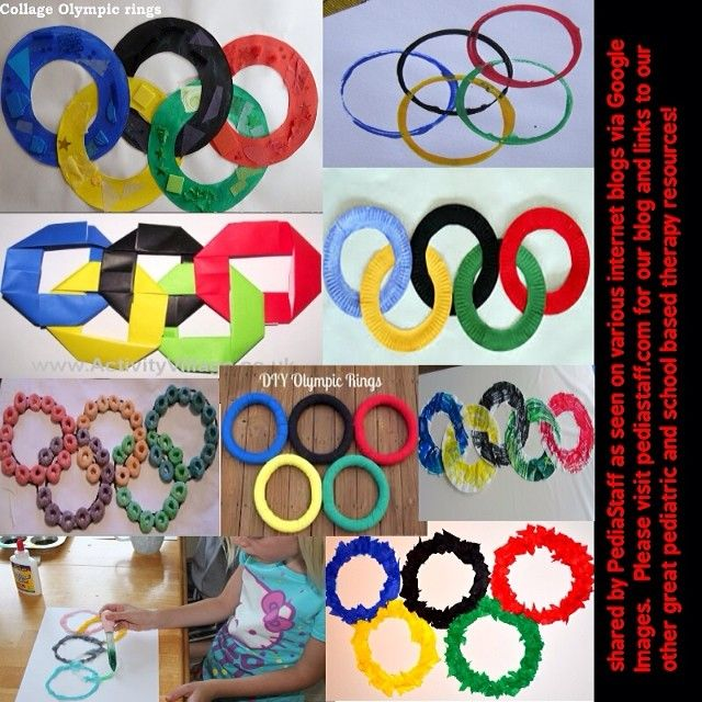 OLYMPIC RING CRAFT NINE WAYS!  From the Pediastaff Instagram feed Instagram/pediastaff.com