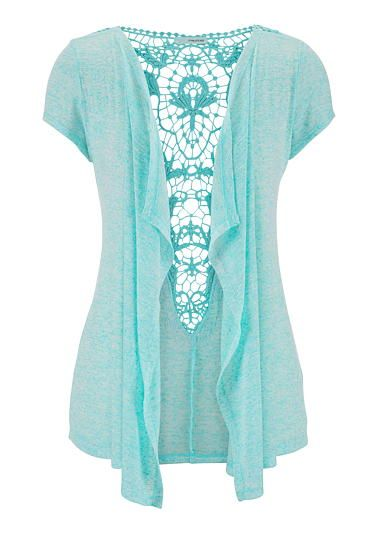short sleeve cinched side sweater with keyhole back - maurices.com