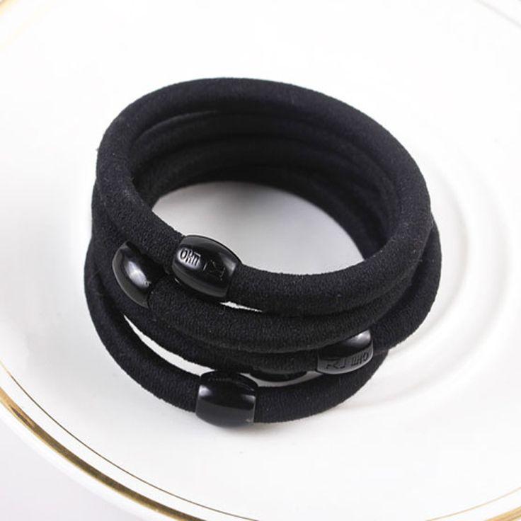 30 pcs zwart hair styling gereedschap paardenstaart rubber haarband touw vrouwen haaraccessoires elastiekjes gom