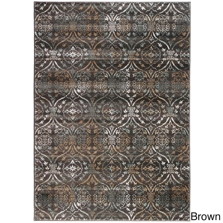 Admire Home Living Plaza Brazil Area Rug (3'3 x 4'11) (3'3 x 4'11 - Brown) (Olefin, Abstract)
