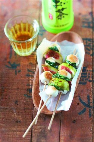 Figues et mozzarella, huile au basilic - Larousse Cuisine