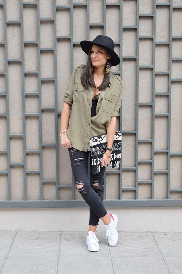 blogueuse mode chemise kaki