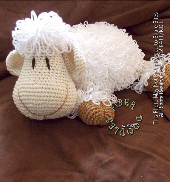 Free Crochet Patterns For Small Pillows : CROCHET PATTERN Pillow Pal Lamb van FiberDoodlesbyK4TT op ...