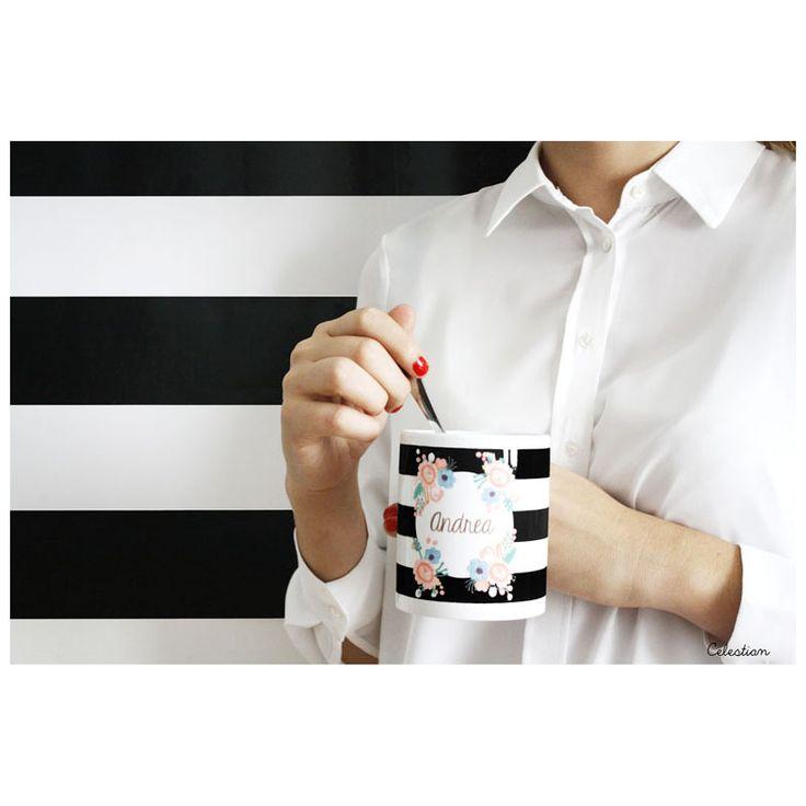 ¡Cafés en tazas bonitas! #buenastardes #cafe #taza #flores #pinterest