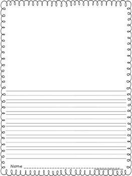 printable story writing paper kindergarten