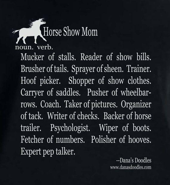 Ladies' missy fit t-shirt. Horse show mom. by DanasDoodles