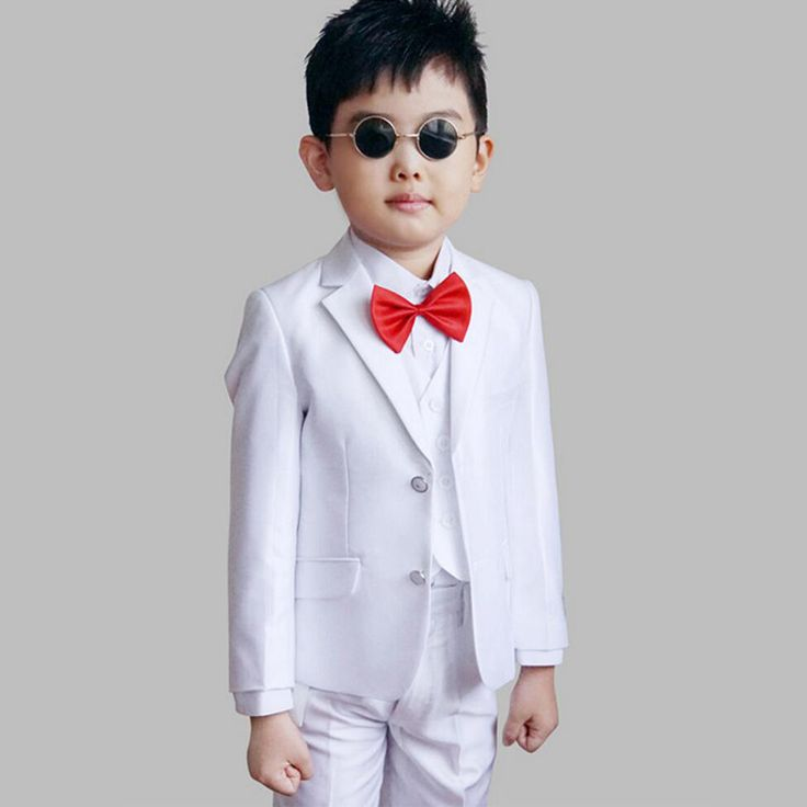 >> Click to Buy << Boys White Wedding Tuxedo Jacket Vest and Pant 3PCS Formal Suit for Children Party Costume Kids Clothes Ceremony Suits #Affiliate