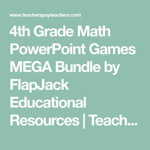 4th Grade Math PowerPoint Games MEGA Bundle by FlapJack Educational Resources   Teachers Pay Teachers