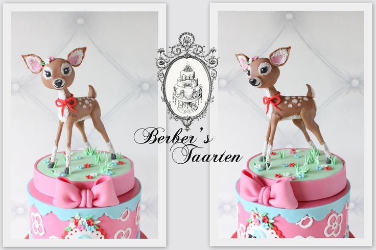 Retro deer made out of fondant. Berber's Taarten