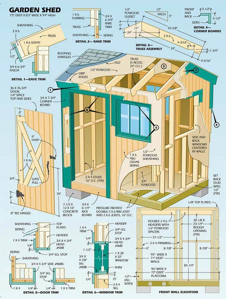 Garden Sheds 2 5 X 1 5 277 best sheds images on pinterest | sheds, garden sheds and