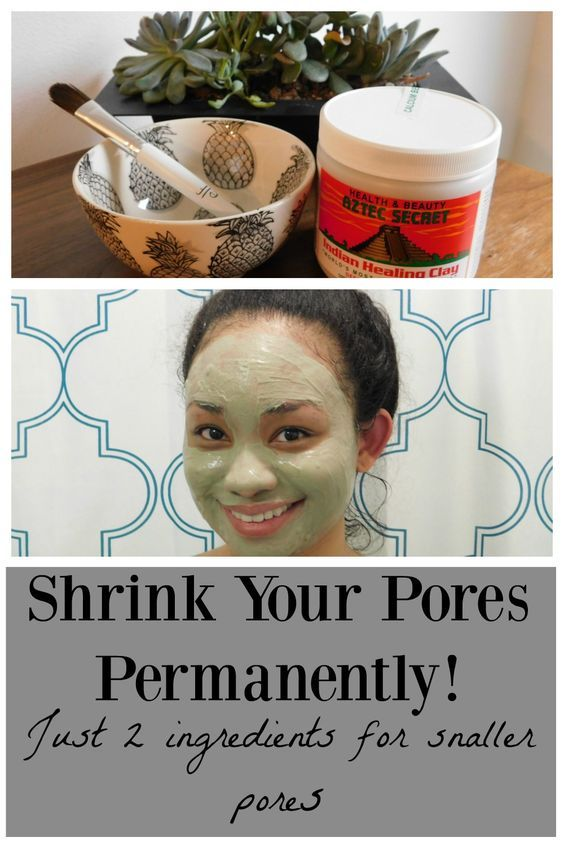 Get smaller pores using this easy DIY mask. Recipes for Oily, Dry and Sensitive skin!