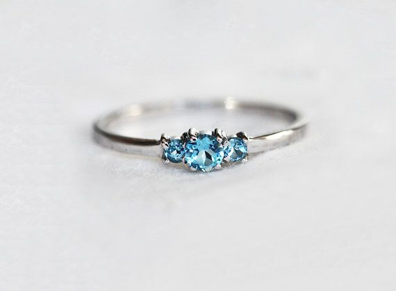 Simple and dainty three stone ring. If you would like to have mixed gemstones ring please contact me before purchase. Other gemstones available are: