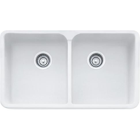 """Franke Manor House MHK720-31 Fireclay 31"""" Apron Front Kitchen Sink in Matte White"""