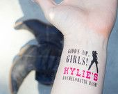 Bachelorette Party Temporary Tattoos - Cowgirl bachelorette bash Pack ...