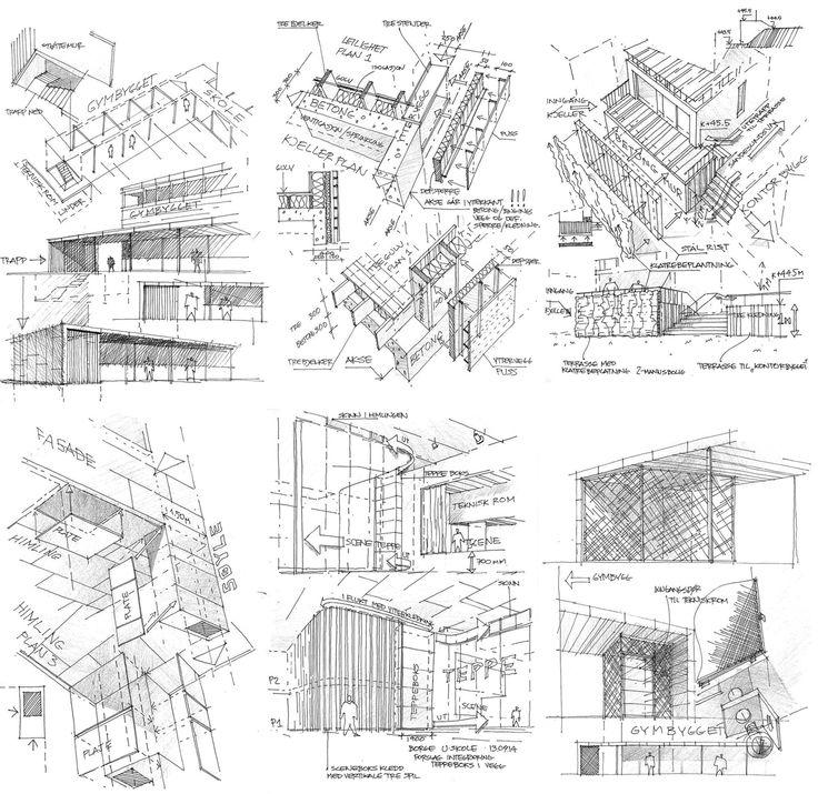 Skisse prinsippdetaljer / Plus arkitektur