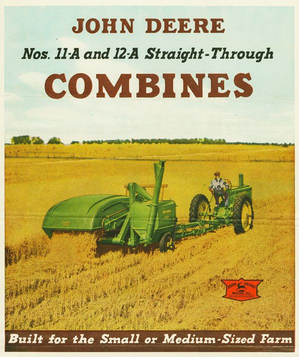 John Deere Nos. 11a and 12a Combines circa 1936 (based on the logo)