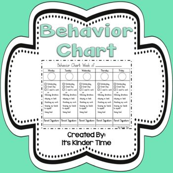 Behavior ChartsThis is an editable and printable behavior chart set. Weekly Behavior