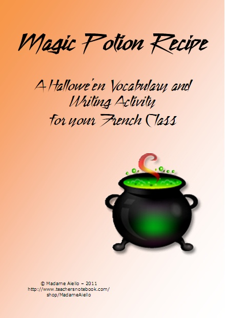 Magic Potion Recipe in French!  Come check out this very creative product from Teaching FSL!