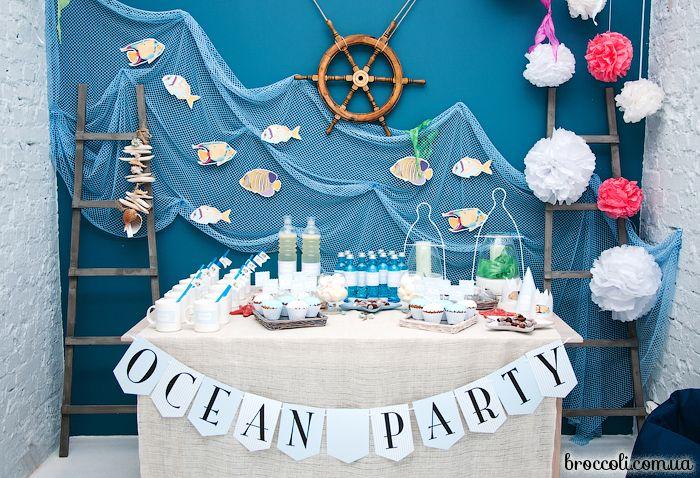 Оформление детского праздника в морском стиле