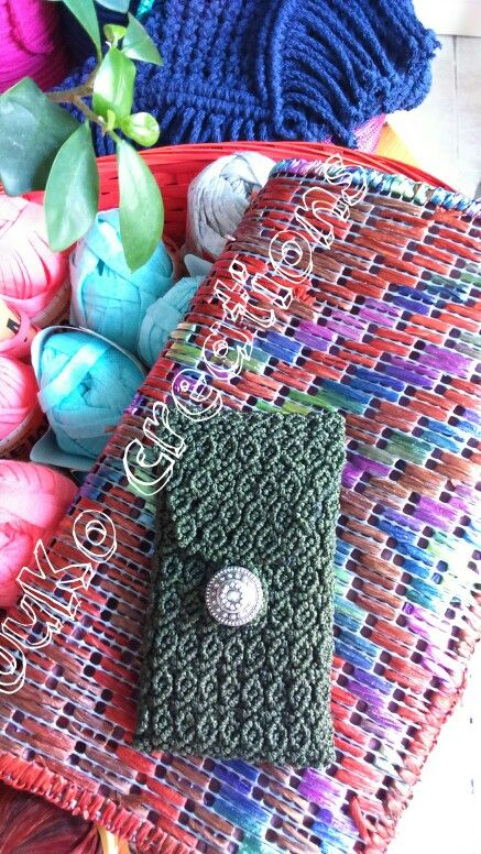 Cell phone bag macrame