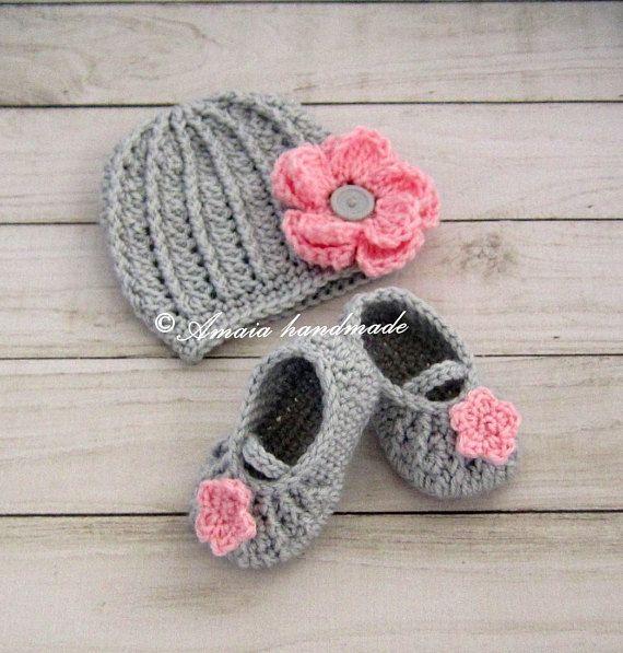 zapatitos tejidos Bailarinas para bebe Zapatos para niña