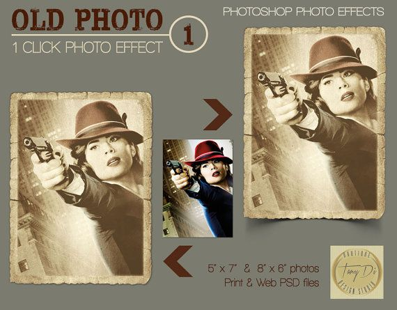 Old Photo 1 Photo Effects Pro Photoshop by TanyDiDesignStudio