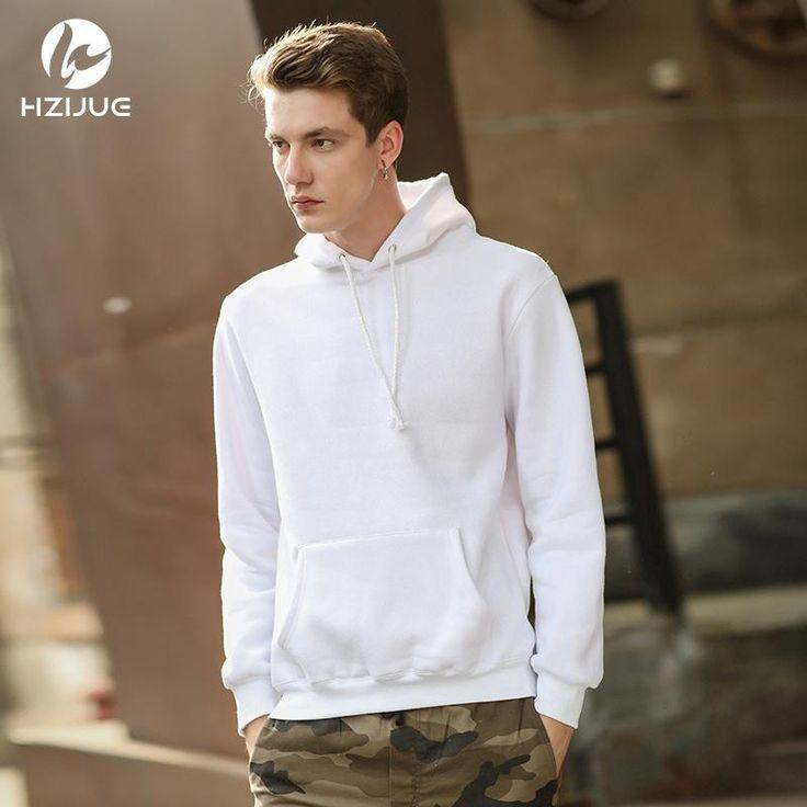 HZIJUE 2017 new autumn winter new men hip hop hooded coats jacket Sweatshirts pillover hoodies cotton fleece hoody
