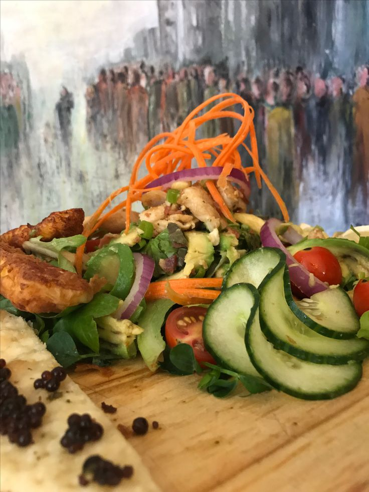 Chicken Salad and Balsamic Beads at Rabbit Hole Restaurant