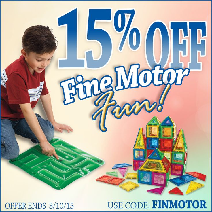 From now until March 10th save 15% on ‪fine motor‬ products! Use code FINMOTOR at checkout to save on over 70 products!