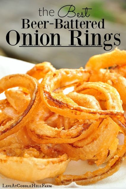Life At Cobble Hill Farm: The BEST Beer Battered Onion Rings