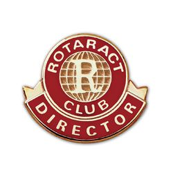 Russell-Hampton Co. Rotary Club Supplies: Gold Plated Rotaract Director Lapel Pin