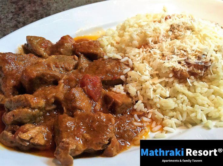 Homemade Stifado by Maria. Made after a traditional Corfiot recipe. #Stifado #Homemade #Mathraki #Resort #Gouvia #Corfu #Greece #Traditional #Recipe