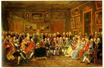 A Reading in the Salon of Mme Geoffrin, 1755 Small - Salon (gathering) - Wikipedia, the free encyclopedia