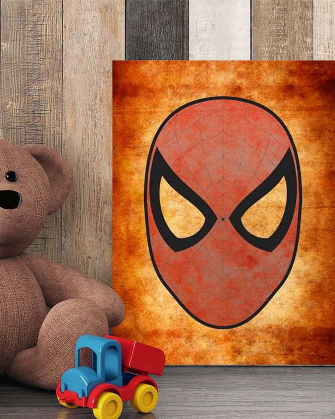 Spiderman Mask Canvas Art - Marvel Canvas Art @ http://artzeedesigns.com/products/canvas-art-marvel-inspired-art-comic-book-characters-spiderman-by-artzee-designs.html