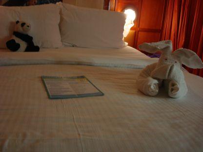 håndklæde dyret er enten en kanin eller en hund