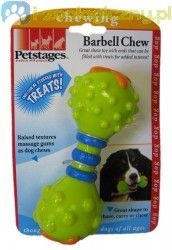 PETSTAGES Barbell Chew - Hantelek na przekąski zabawka dla psa