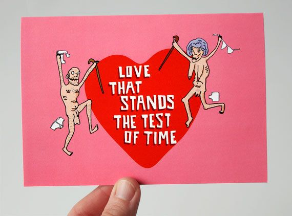 funny valentines day card romantic card funny by likks on etsy - Naughty Valentine