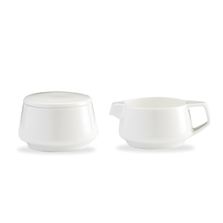 Marc Newson by Noritake fine bone china sugar bowl and creamer. http://www.noritake.com.au/our-collection/by-category/designer-tableware/marc-newson-by-noritake