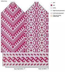 Bildresultat för heart mittens knitted