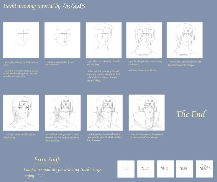 Itachi Drawing Tutorial Drawing Tutorial Sketching Lessons Sketches Tutorial