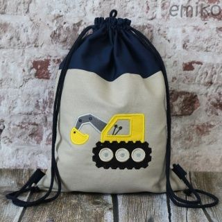 Personalized Draw String Back Pack - Construction