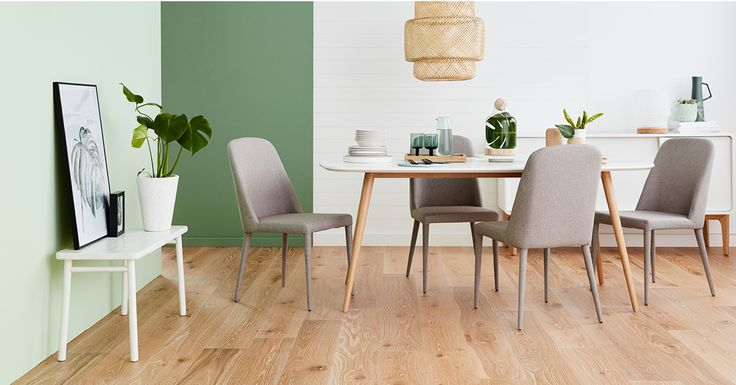 Furniture with a white finish and minimal design is the perfect fit for coloured walls, creating a 'barely there' look that allows you to draw attention elsewhere.