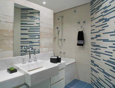 Banheiro com Pastilhas Pequenos - Fotos e Vidro | Ideias para Decoração