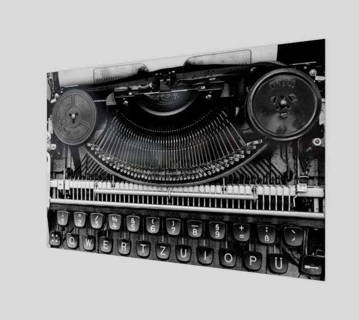 "Poster+""Typewriter""+by+Mixed+Imagery"