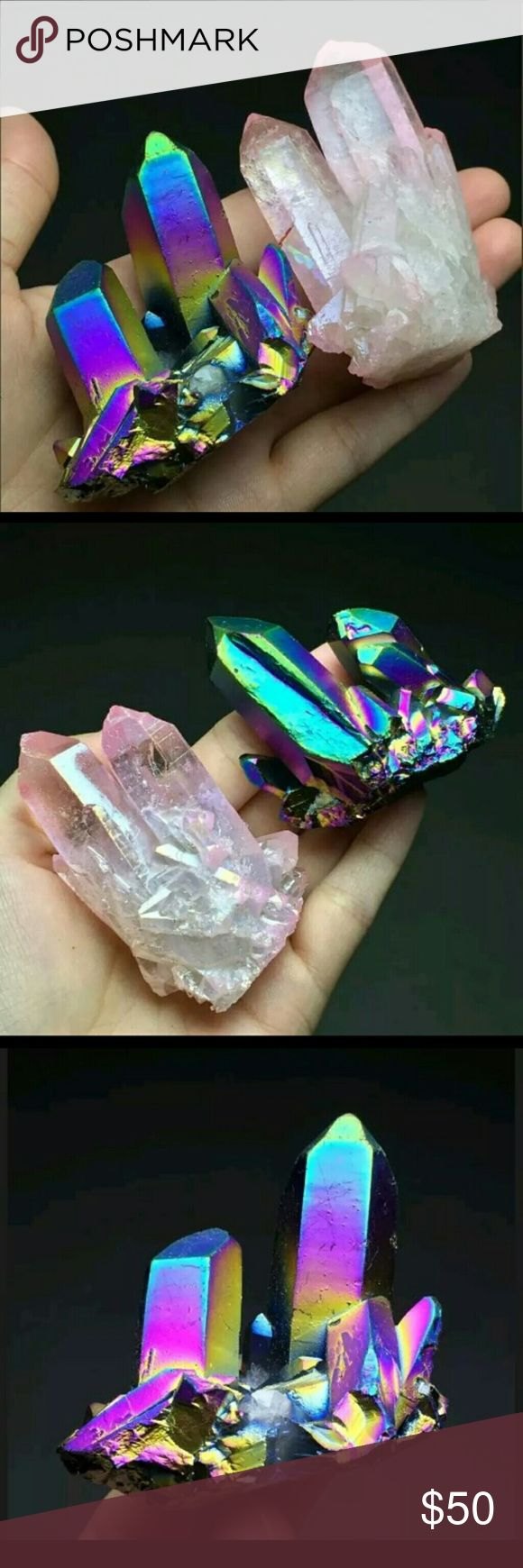 Aura Quartz Crystals Beautiful crystals!  155 grams total. *I have more crystals for sale on here! Forever 21 Other