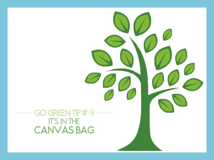 "#GoGreen Tip #9: It's In The Canvas Bag - How many times have you been asked if you prefer paper or plastic when you check out at the grocery store? Your answer can be ""neither"" when you bring your own canvas bag. You'll have a reusable resource that is stronger than plastic or paper, reducing demand for new bag production and fewer ""stray"" bags cluttering the environment. {#Target gives you a discount if you use their recyclable bags to the check out.}"