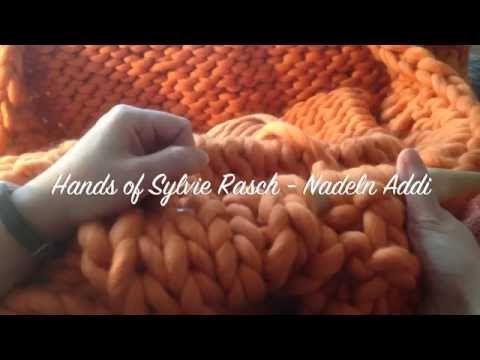 """Wolldecke/Plaid/Blanket stricken - Vorstellung eines Strickkit von """"WE ARE KNITTERS"""" - YouTube"""