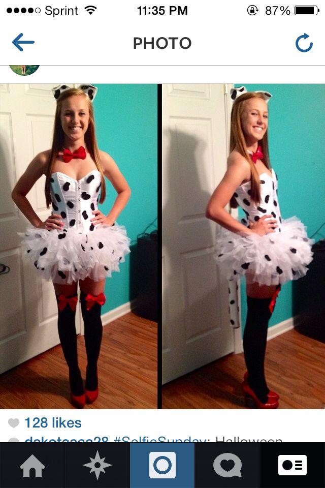 DIY Dalmatian costume!