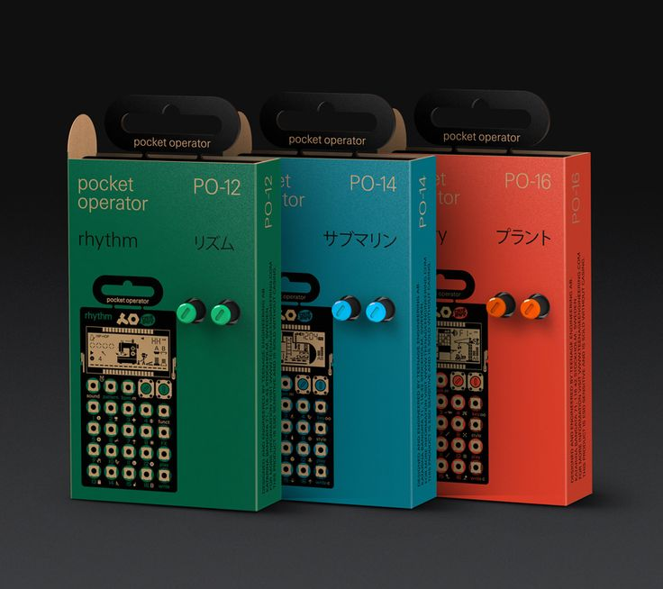 POCKET OPERATORS by TEENAGE ENGINEERING: